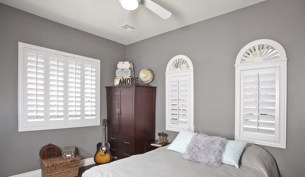 Polywood Shutters In A Denver Bedroom